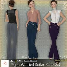 high waist sailor pants