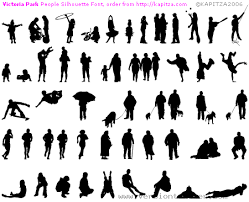 people silhouette images