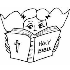 coloring page of a bible