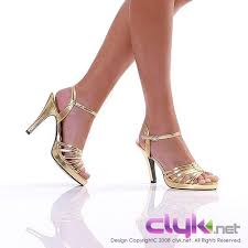gold strap shoes