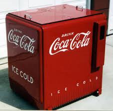 antique coca cola cooler