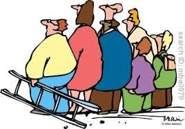 cartoon crowd of people