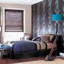 blue and chocolate bedroom