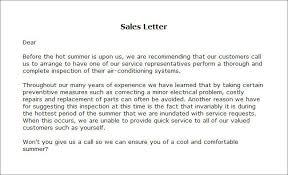 sales letters templates