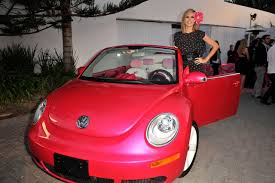 pink vw beetle