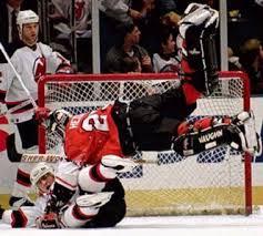 hockey goalie fights