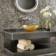 bathroom pebble tile