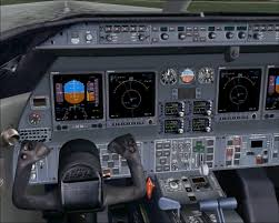 learjet cockpit