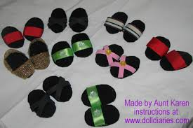 make doll shoes
