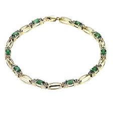 emerald and diamond bracelets