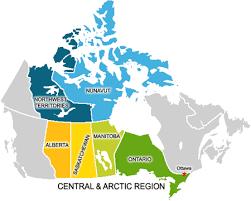 map of the arctic region