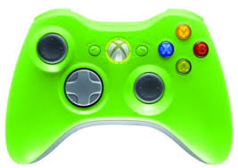 green xbox 360 controllers