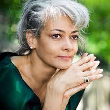 woman gray hair
