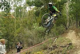 downhill mountain bike riding