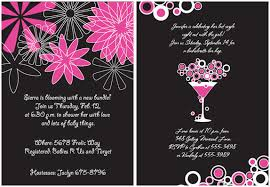 pink and black bridal shower invitations
