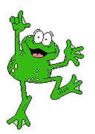 clip art of a frog