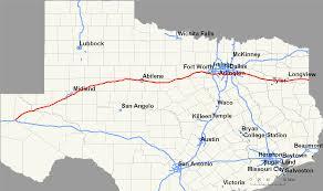 texas interstate map