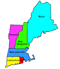 map of the new england states
