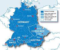 germany austria switzerland map