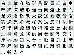 chinese tattoo alphabet