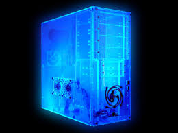 logisys assembled uv blue acrylic clear case