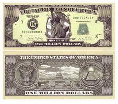 1 million dollar note