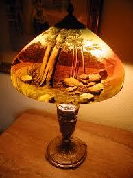 reverse painting lamp