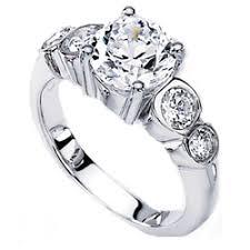 bezel diamond engagement ring