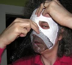 plaster bandage mask