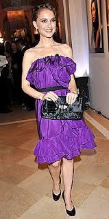 purple designer dress