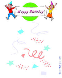 happy birthday card printouts