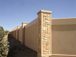 concrete wall fence