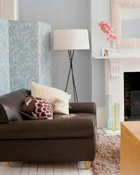 blue and brown room