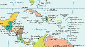 mapa de america central y el caribe