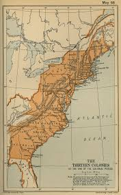 physical map of the 13 colonies