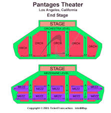 pantages theatre seating