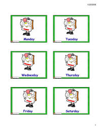 esl days of the week