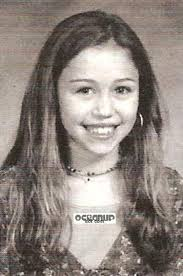 miley cyrus yearbook picture