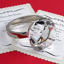 diamond ring paperweights