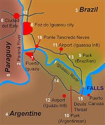 iguazu falls maps