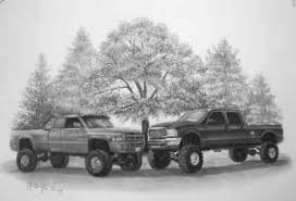 drawings of cars and trucks