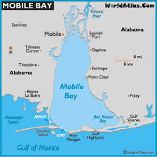 map of mobile bay
