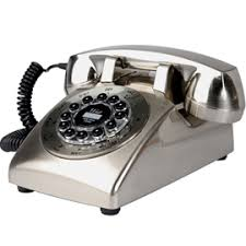 silver telephone
