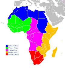region map of africa