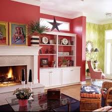 decorating red walls