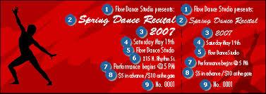 dance ticket