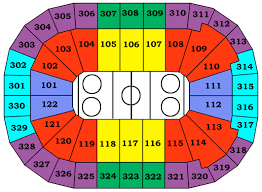 gm place seating layout