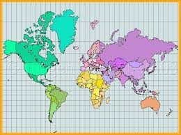 peters projection map of the world