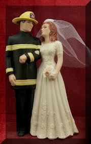 military wedding cake top