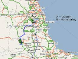 map of the north east of england